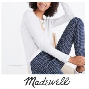 Madewell White Anthem Long Sleeve Tee